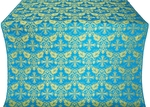 Koursk silk (rayon brocade) (blue/gold)