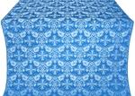 Koursk silk (rayon brocade) (blue/silver)