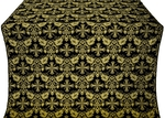 Koursk silk (rayon brocade) (black/gold)