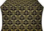 Koursk silk (rayon brocade) (black/gold)