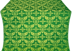 Koursk silk (rayon brocade) (green/gold)