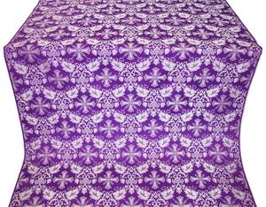 Koursk silk (rayon brocade) (violet/silver)