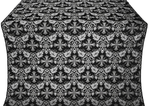 Koursk silk (rayon brocade) (black/silver)