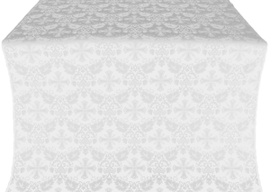 Koursk silk (rayon brocade) (white/silver)