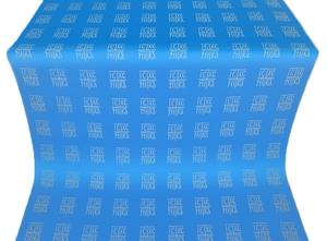Abakan silk (rayon brocade) (blue/silver)