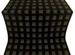 Abakan silk (rayon brocade) (black/gold)