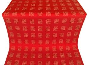 Abakan silk (rayon brocade) (red/gold)