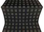 Abakan silk (rayon brocade) (black/silver)