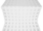 Abakan silk (rayon brocade) (white/silver)