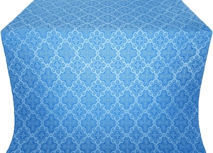 Kazan' metallic brocade (blue/silver)