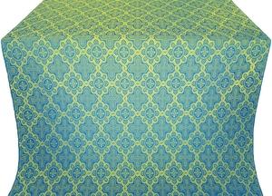 Kazan' silk (rayon brocade) (blue/gold)