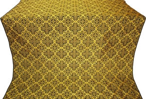 Kazan' silk (rayon brocade) (black/gold)