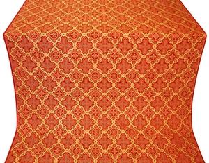 Kazan' silk (rayon brocade) (red/gold)