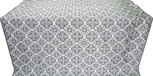 Kazan' silk (rayon brocade) (black/silver)