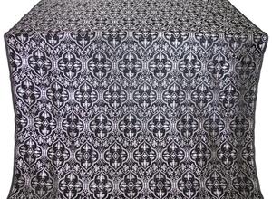 Arkhangelsk metallic brocade (black/silver)