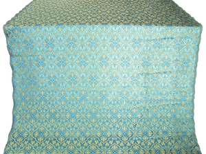 Arkhangelsk silk (rayon brocade) (blue/gold)