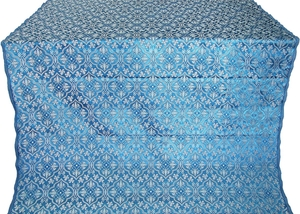 Arkhangelsk silk (rayon brocade) (blue/silver)