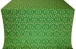 Arkhangelsk silk (rayon brocade) (green/gold)