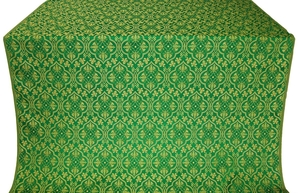 Arkhangelsk silk (rayon brocade) (green/gold)