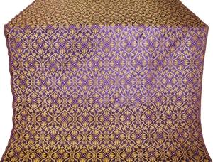 Arkhangelsk silk (rayon brocade) (violet/gold)