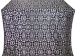 Arkhangelsk silk (rayon brocade) (black/silver)