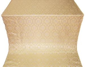 Arkhangelsk silk (rayon brocade) (white/gold)