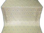 Arkhangelsk silk (rayon brocade) (white/silver/blue)
