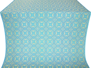 Vasiliya silk (rayon brocade) (blue/gold)