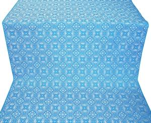 Vasiliya silk (rayon brocade) (blue/silver)