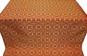 Vasiliya silk (rayon brocade) (red/gold)