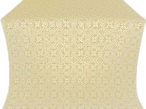 Vasiliya silk (rayon brocade) (white/gold)