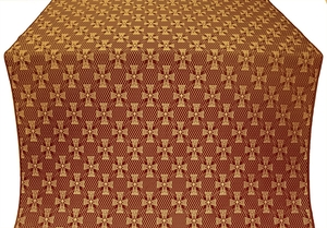 Petrograd metallic brocade (claret/gold)