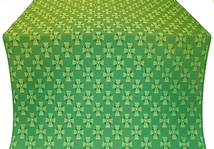 Petrograd metallic brocade (green/gold)