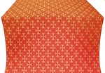 Petrograd metallic brocade (red/gold)