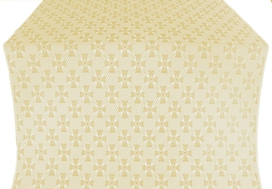 Petrograd metallic brocade (white/gold)