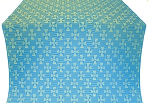 Petrograd silk (rayon brocade) (blue/gold)