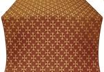 Petrograd silk (rayon brocade) (claret/gold)
