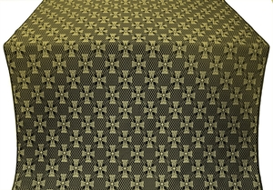 Petrograd silk (rayon brocade) (black/gold)