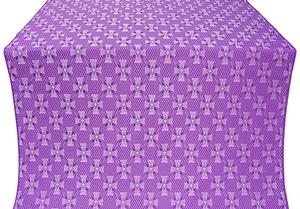 Petrograd silk (rayon brocade) (violet/silver)
