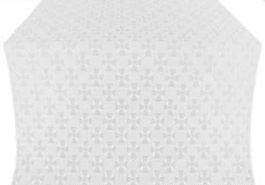 Petrograd silk (rayon brocade) (white/silver)