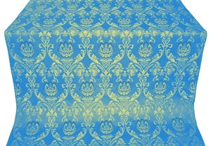 Rose metallic brocade (blue/gold)
