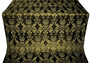 Rose metallic brocade (black/gold)