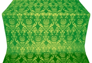 Rose metallic brocade (green/gold)