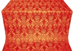 Rose metallic brocade (red/gold)