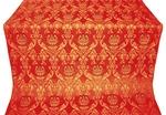 Rose metallic brocade (red/gold)