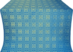Murom silk (rayon brocade) (blue/gold)