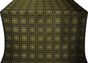 Murom silk (rayon brocade) (black/gold)