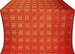 Murom silk (rayon brocade) (red/gold)