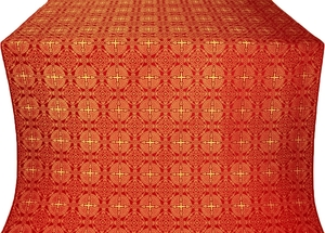 Murom silk (rayon brocade) (red/gold)