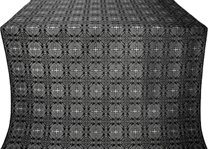 Murom silk (rayon brocade) (black/silver)